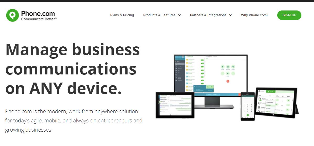 Phone.com is one of the Small Business Phone Services