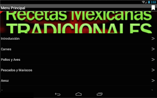 Screenshot of Recetas Mexicanas Tradicionale