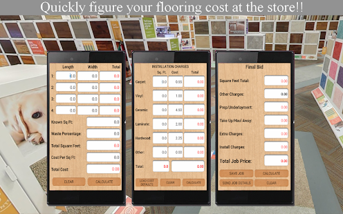Flooring Job Bid Calculator - Apps on Google Play