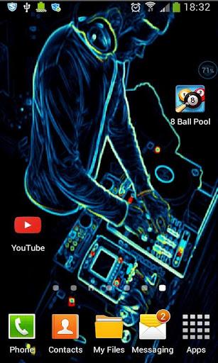Animated DJ Wallpaper