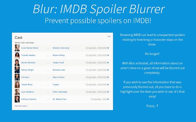 Blur: IMDB Episode Blurrer