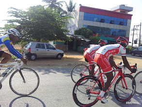 Photo: Raman Garimella of Team Naesaar was right there in the bunch..