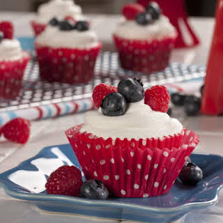 Berry Chocolate Cupcakes.