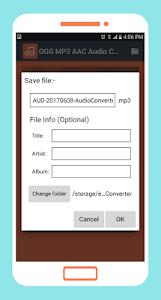 Download OGG MP3 AAC Audio Converter APK latest version 3 1