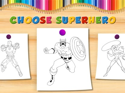 Coloring Books Super Hero - Android Apps on Google Play