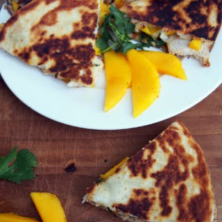 Chicken and Mango Quesadillas with Brie.