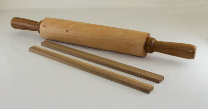 "Photo: Rebecca Meyerson 4"" x 24"" rolling pin [cherry, walnut]"