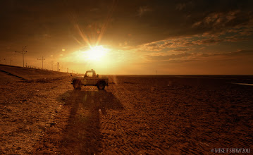 Photo: Shattered Light  There are many rules in photography, one being you should never shoot directly into the sun but if you didn't then how would you know just how much fun it would be.  This was taken down on Southport beach in the UK, I have a love of Landrovers and hope to own a large Safari one in the future, they are built like tanks so seeing this pick up back lit by the sun was too good an opportunity for me to miss.   I have been busy the last few days and I'm not going to be around much for this weekend as we have a big festival at Liverpool too, I will be out and about in the rain trying to not get too wet, have fun and don't break anything ;)        #thewhiterabbit #mikefshaw #mikeshaw
