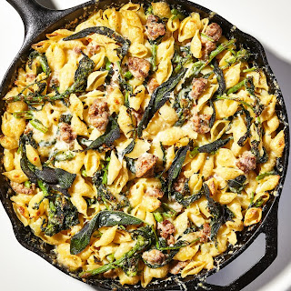 One-Pot Baked Pasta with Sausage and Broccoli Rabe.