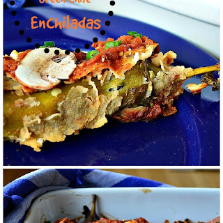 Shitake Stuffed Hatch Green Chile Enchiladas and a #Whole Foods #Giveaway.