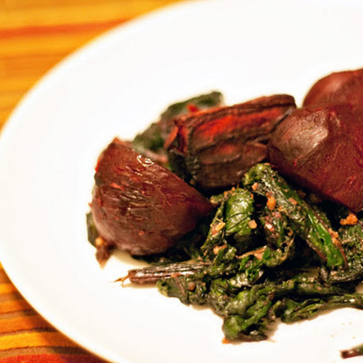 Roasted Beets with SautéEd Beet Greens Recipe