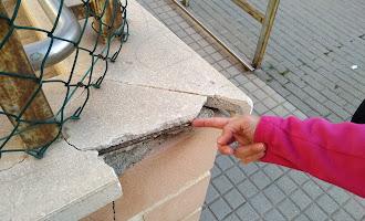 Desperfectos en el CEIP San Bernardo
