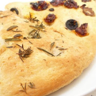 Sundried Tomato,Olive,Rosemary and Thyme Foccacia Bread.
