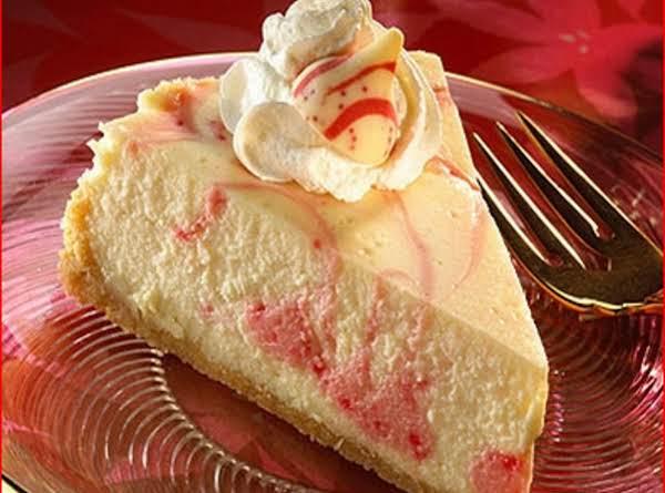 Kisses Candy Cane Swirl Cheesecake Recipe