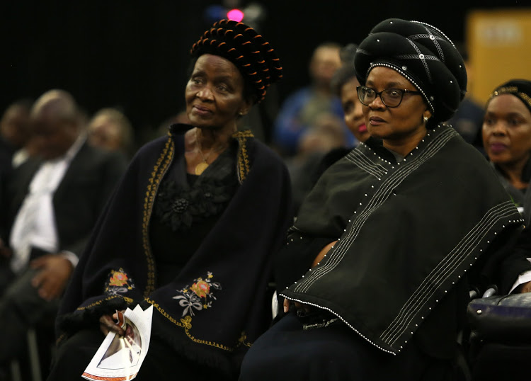 Bongani Mayosi's mother Nontle Mayosi and his wife Nonhlanhla Khumalo at his funeral service. Picture: RUVAN BOSHOFF