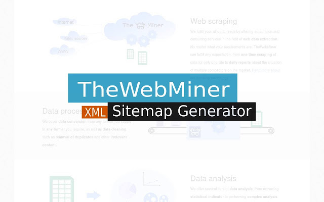 thewebminer sitemap generator chrome web store