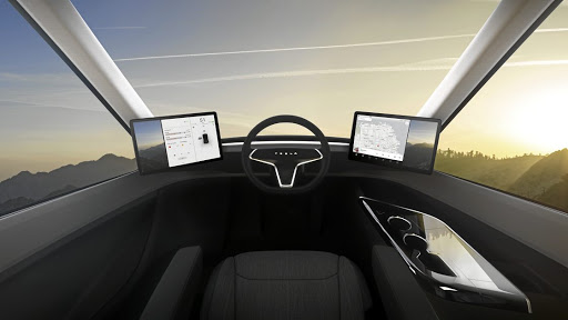 The cab is only for a driver who will be surrounded by the latest technology. Picture: TESLA MOTORS