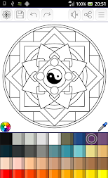 Mandalas coloring pages (+200 free templates) APK screenshot thumbnail 18