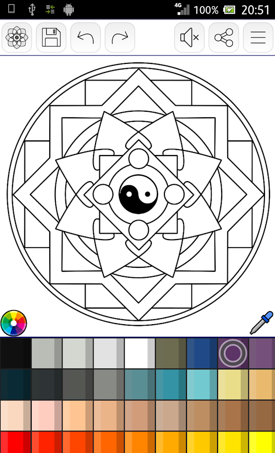 app store screenshot template - mandalas coloring pages 200 free templates android