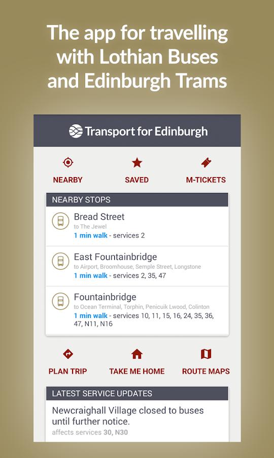 Transport for Edinburgh - screenshot