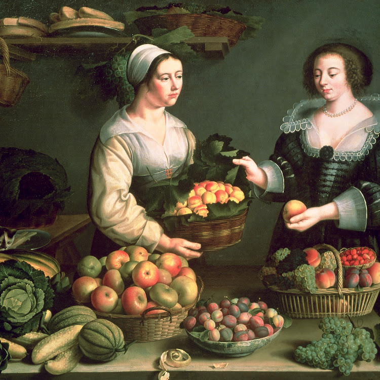 A 17th-century woman sells her produce. Women at the time could attain a far higher degree of financial independence than is now conventionally believed.