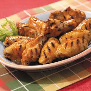 Maple-bourbon Glazed Chicken Wings.