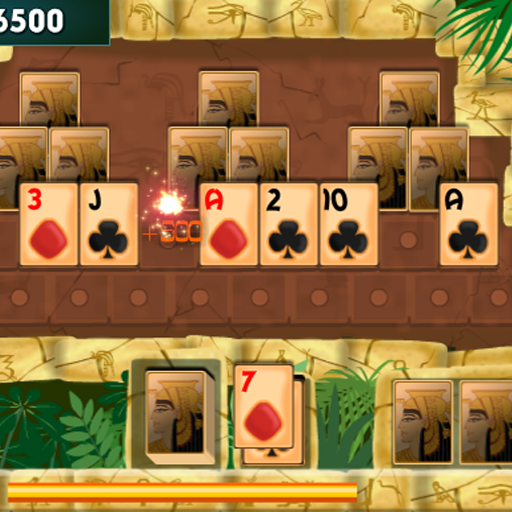 PYRAMID SOLITAIRE card game (game)