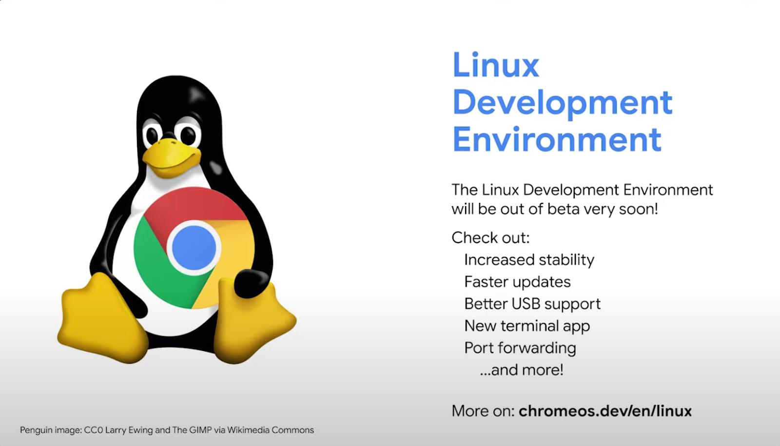 Linux sort du mode Beta sur Chrome OS