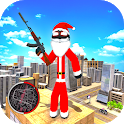 Santa Claus Rope Hero Stickman Gangster Crime icon