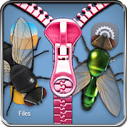 Flies lock screen prank