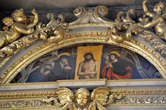 """Photo: Polittico di Gandolfino da Roreto: """"Il compianto"""" della Madonna e di San Giovanni sul Cristo morto"""