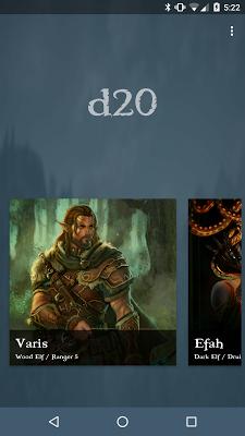 d20 5e Character Sheet - screenshot