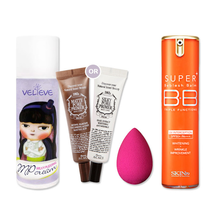 Korean Pore Perfect Makeup Combo