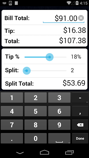Screenshot for Tip Calculator Pro in United States Play Store