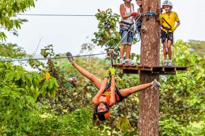Easiest Zip Line Level with 10 Games in Krabi Fun Park