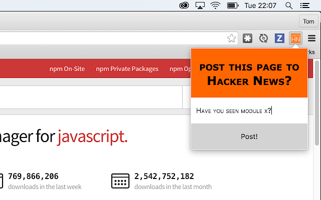 Post to Hacker News