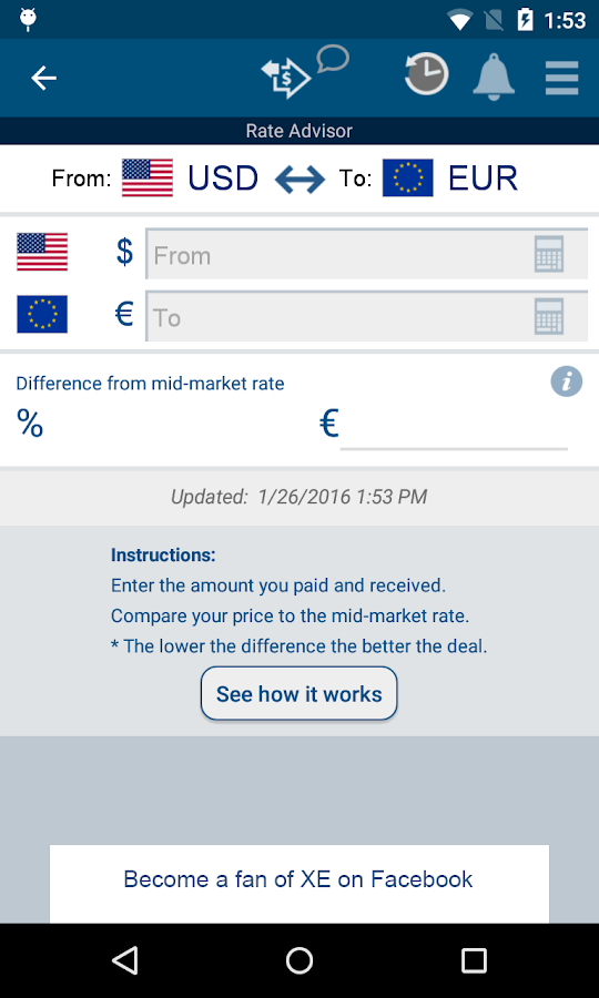 XE Currency- screenshot