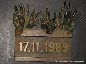 "Photo: Memorial to Czechoslovakia's ""Velvet Revolution"""