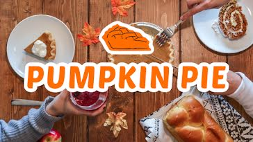 Autumn Pumpkin Pie - Thanksgiving Template