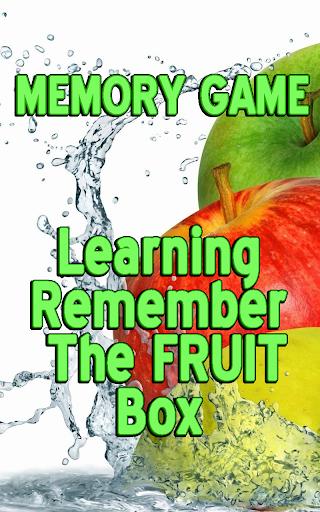 Learning Memorize Fruits