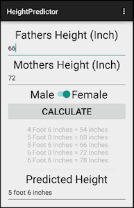Medical Height Predictor screenshot 1