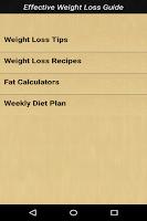 Screenshot of Effective Weight Loss Guide