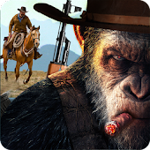 Apes Age Vs Wild West Cowboy: Survival Game