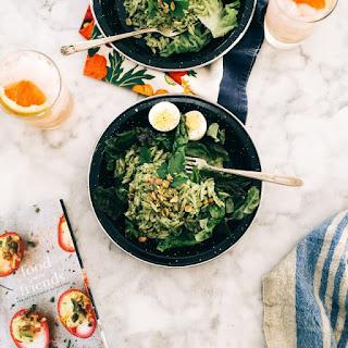 Kale Pesto Pasta Salad.