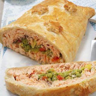 Polish Salmon En Croute.