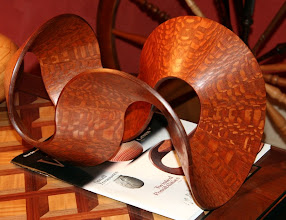 """Photo: A signature Malcolm Tibbetts """"ribbon"""" made of cut and rejoined bowl sections"""