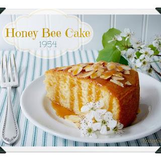 Honey Bee Cake with Honey Caramel Drizzle