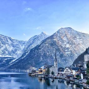 Hallstatt, Austria by Daniel MV - Landscapes Travel ( water, mountains, arhitecture, sky, snow, lake, austria, travel photography )