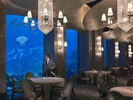 A restaurant at Atlantis the Palm Dubai.
