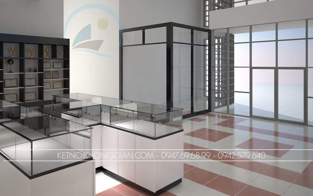 thiết kế nội thất showroom thiết bị điện